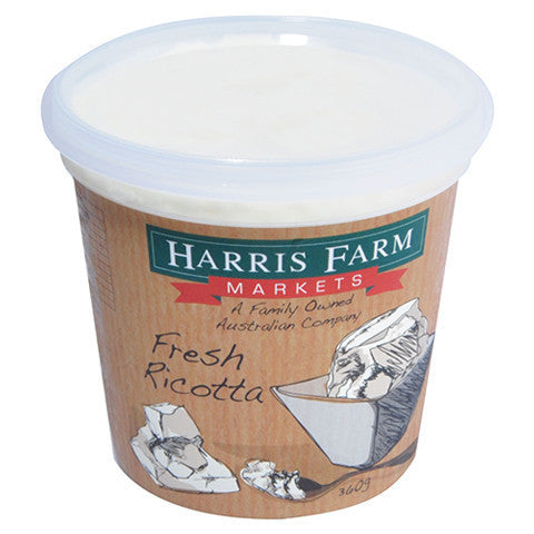 Ricotta Harris Farm 360g , Frdg1-Cheese - HFM, Harris Farm Markets