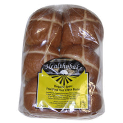 Healthy Bake Hot Cross Bun Fruit Less 6pk , Z-Bakery - Harris Farm Markets, Harris Farm Markets
