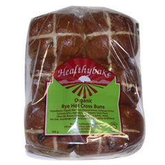 Healthy Bake Hot Cross Bun Rye 500g , Z-Bakery - Harris Farm Markets, Harris Farm Markets