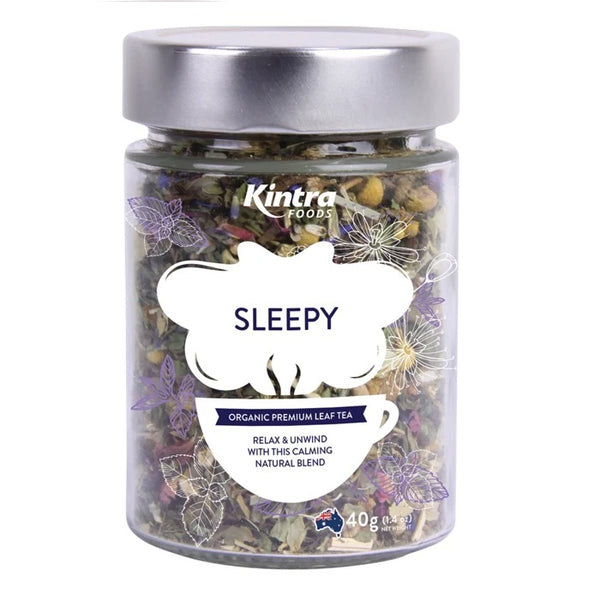 Kintra Foods Organic Sleepy Leaf Tea Jar | Harris Farm Online