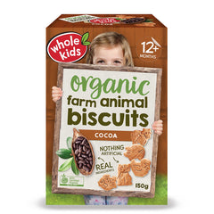 Whole Kids - Little Munchkins - Organic Cocoa Farm Biscuits - Cocoa (150g)