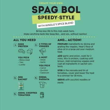Mingle Spag Bol Speedy-Style Seasoning | Harris Farm Online