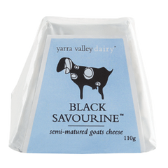 Goat Cheese Black Savourine Semi-Matured 110g Yarra Valley Dairy