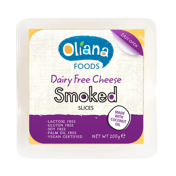 Oliana - Dairy Free Cheese Smoked Slices (200g)