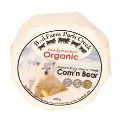 Camembert Paris Creek Organic Com'n'Bear 200g , Frdg1-Cheese - HFM, Harris Farm Markets