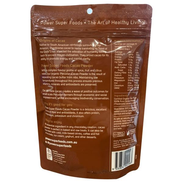 Power Super Foods - Cacao Powder Organic (125g)