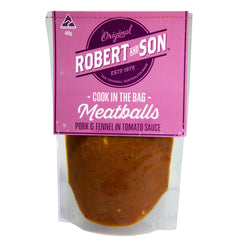 Pork Fennel Meatballs Cook-in-bag 480g Robert & Son