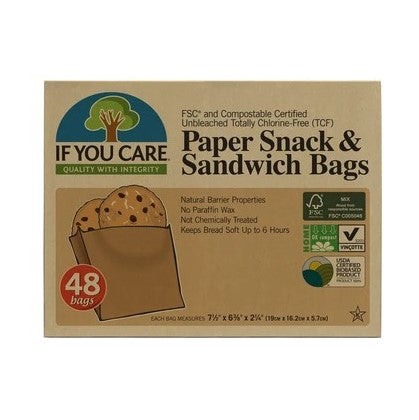 If You Care Paper Snack & Sandwich Bags | Harris Farm Online