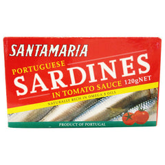 Santamaria Sardines Tomato 120g , Grocery-Can or Jar - HFM, Harris Farm Markets