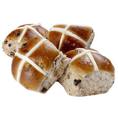 Etna Hot Cross Bun Traditional 450g , Z-Bakery - Harris Farm Markets, Harris Farm Markets