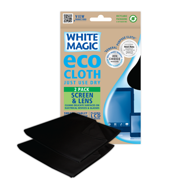 White Magic Eco Cloth Screen Lens 2pk , Grocery-Cleaning - HFM, Harris Farm Markets