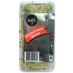 Sprouts - Alfalfa & Onion Sprouts (125g tub)