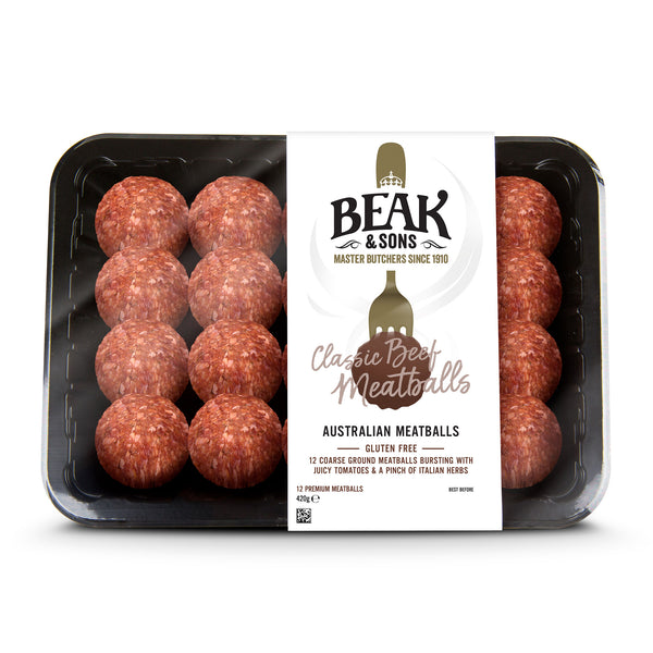 Beak and Sons Classic Beef Meatballs 420g