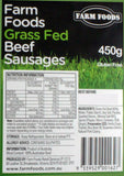 Sausages - Beef Grass Fed (6 Sausages, 450g) Farm Foods