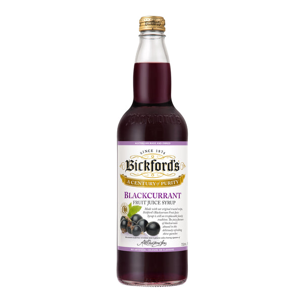 Syrup Blackcurrant 750mL Bickfords