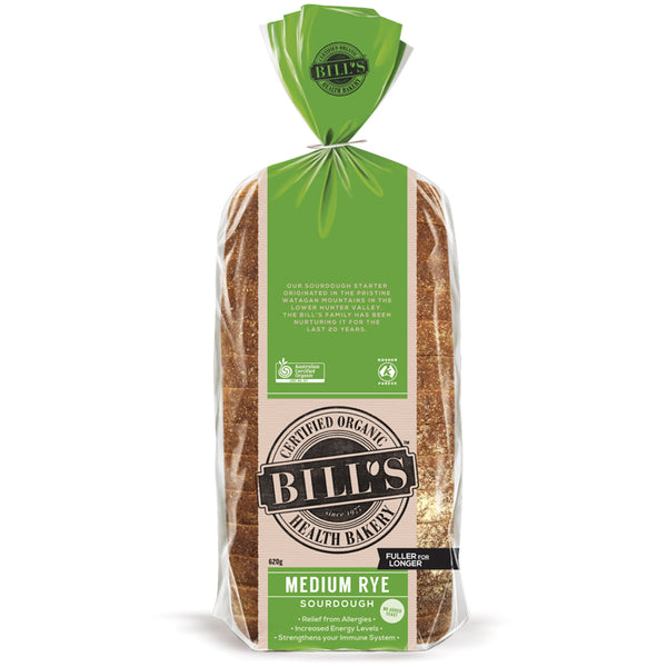 Bills - Bread Medium Rye Sourdough - Organic (620g)