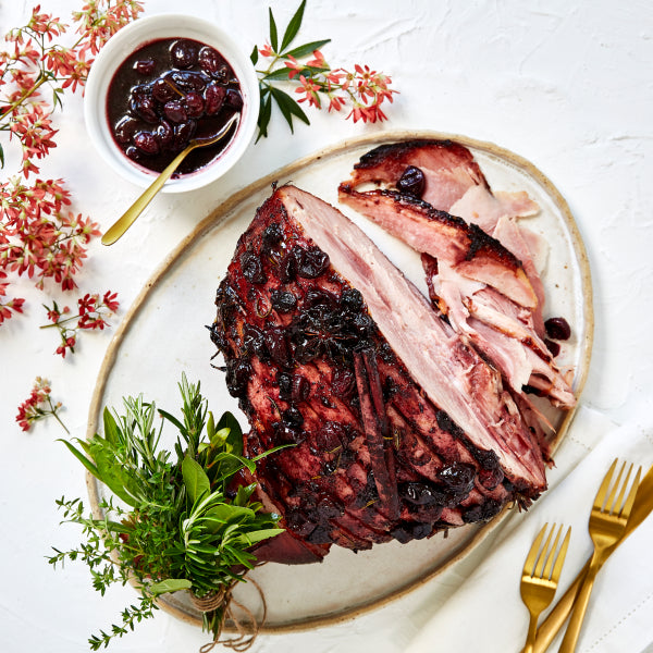 Mixed Berry & Cherry Glazed Christmas Ham
