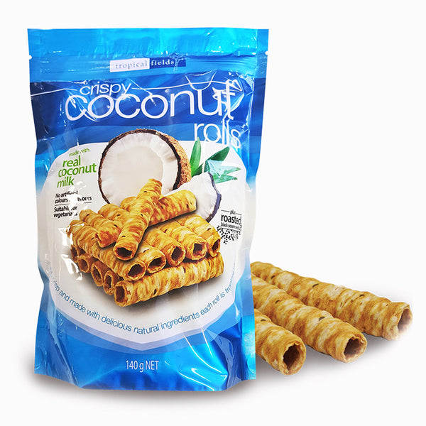 Tropical Fields Crispy Coconut Rolls 140g