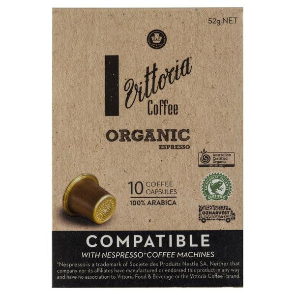 Vittoria Organic Espresso Coffee Capsule 52g , Grocery-Coffee - HFM, Harris Farm Markets