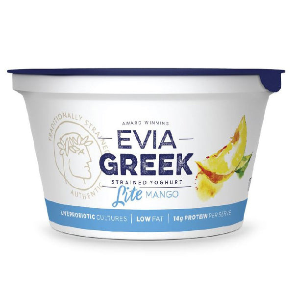 Evia - Yoghurt Greek Strained - Light Mango (170g)