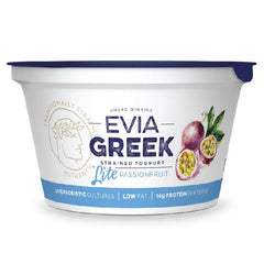 Evia - Yoghurt Greek Strained - Light Passionfruit (170g)