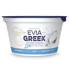 Evia - Yoghurt Greek Strained - Light Sweetened (170g)