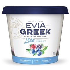 Evia - Yoghurt Greek Strained - Light Forest Berries (700g)
