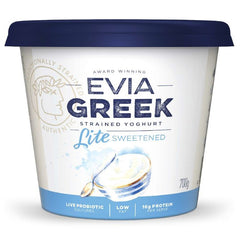 Evia - Yoghurt Greek Strained - Light Sweetened (700g)