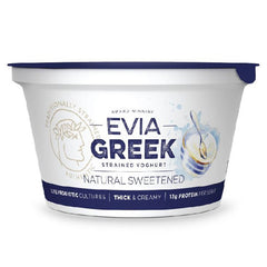 Evia - Yoghurt Strained Greek - Natural Sweetened (170g)