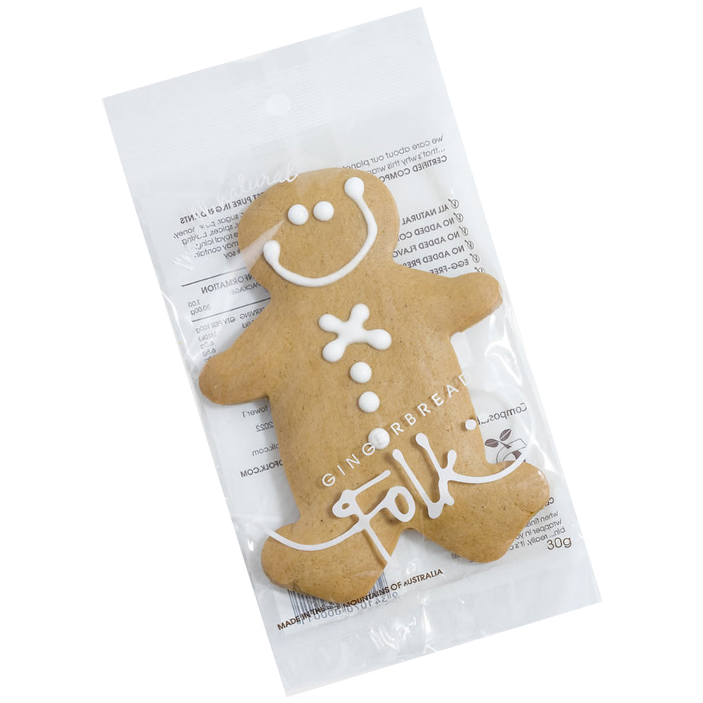 Gingerbread Folk Biscuits Gingerbread Man 30g