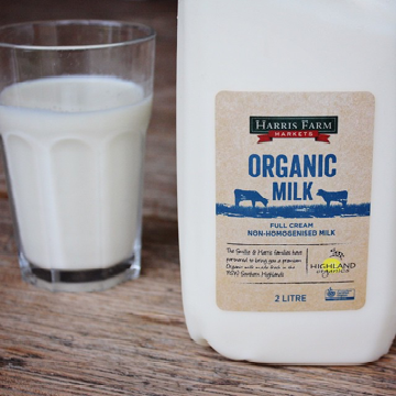 Milk Organic Unhomogenised  (2L) Harris Farm , Frdg2-Dairy - HFM, Harris Farm Markets  - 3