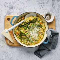 Pumpkin and Asparagus Risotto