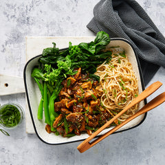 Miso and Maple Pork Fillet - Udon Noodles and Asian Veg