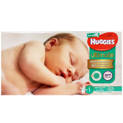 Huggies - Boys & Girls Nappies - Size 1 - Ultimate (Newborn up to 5kg, 224 nappies)