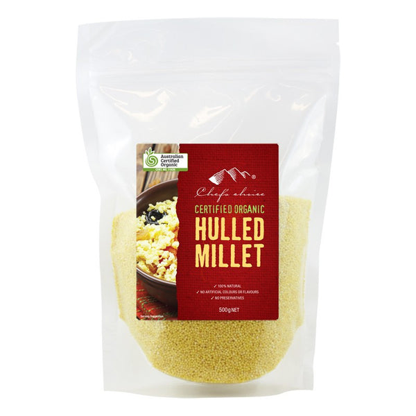 Chef's Choice Certified Organic Hulled Millet 500g