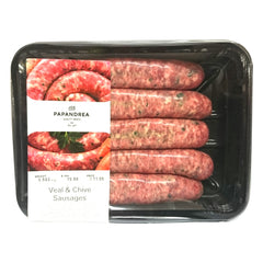 Sausages Beef Veal & Chives Joe Papandrea 500-700g , Frdg5-Meat - HFM, Harris Farm Markets