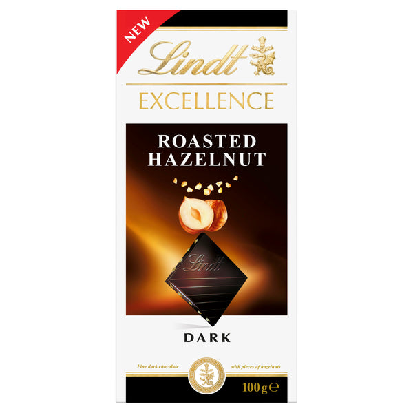Lindt Excellence - Chocolate Dark - Roasted Hazelnut (100g)