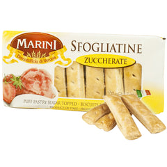 Marini - Biscuits Sfogliatine Zuccherate - Puff Pastry Sugar Topped (200g)