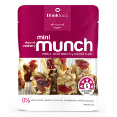 Mini Munch Almond Cranberry 20g Thinkfood , Grocery-Nuts - HFM, Harris Farm Markets