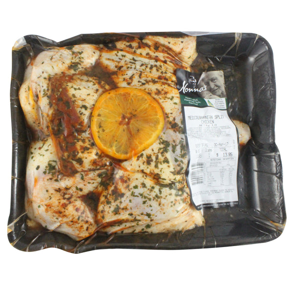 Chicken - Butterflied Mediterranean (1kg) Nonnas