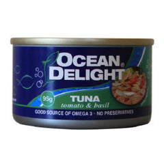 Ocean Delight Tuna Tomato Basil 95g , Grocery-Can or Jar - HFM, Harris Farm Markets