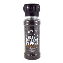 Chefs Choice Organic Whole Black Pepper Grinder 100g