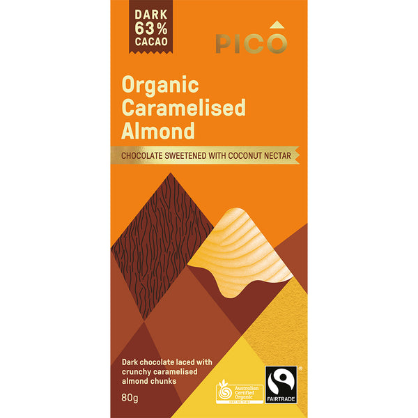 Pico - Chocolate Dark - Organic Caramelised Almond (80g)