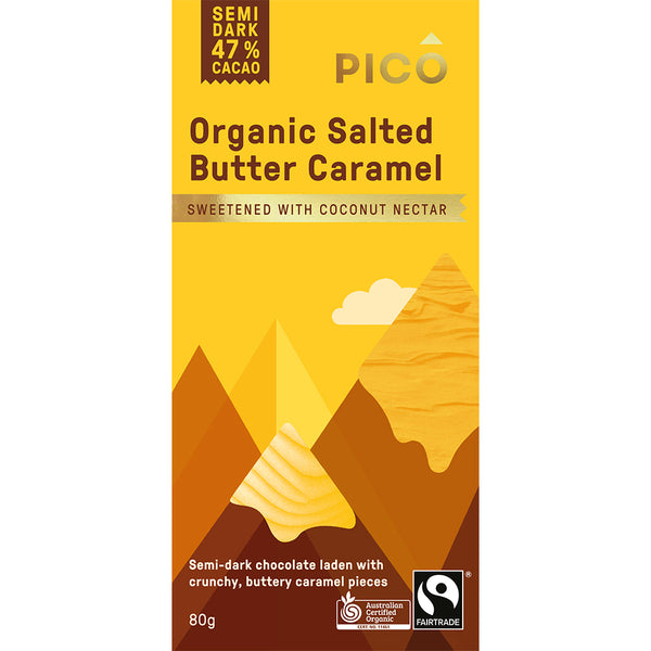 Pico - Chocolate Semi Dark - Organic Salted Butter Caramel (80g)