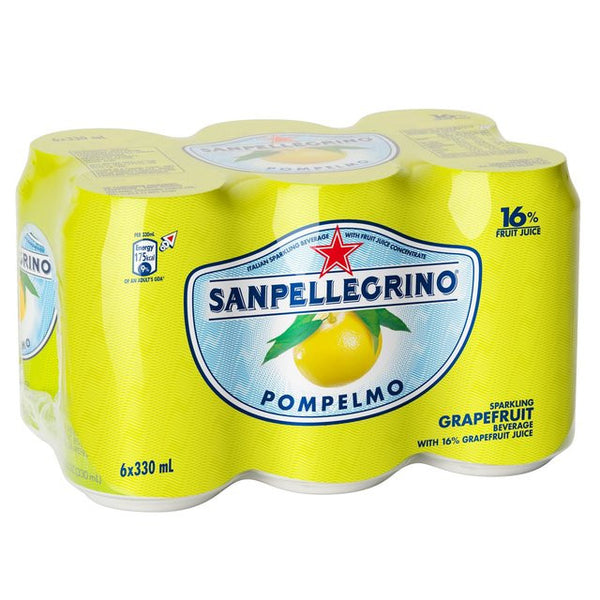 San Pellegrino Can Pompelmo 6 X 330ml , Grocery-Drinks - HFM, Harris Farm Markets