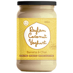 Raglan - Probiotic Coconut Yoghurt - Greek Style - Banana & Chai (400mL)