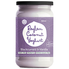 Raglan - Probiotic Coconut Yoghurt - Greek Style - Blackcurrant & Vanilla (400mL)