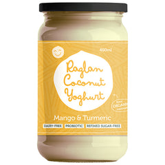 Raglan - Probiotic Coconut Yoghurt - Greek Style - Mango & Turmeric (400mL)