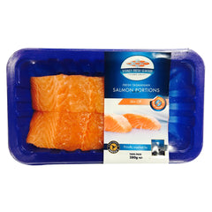 Salmon - Portions Skin Off Prepacked (280g) SFS
