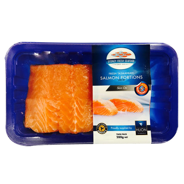 Salmon - Portions Skin On Prepacked (280g) SFS